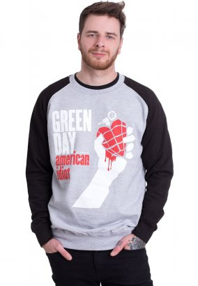 Green Day - American Idiot Charcoal/Black - Sweater