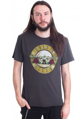 Guns N' Roses - Drum Charcoal - T-shirt
