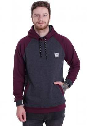 Iriedaily - Rugged Anthracite Red - Hoodie