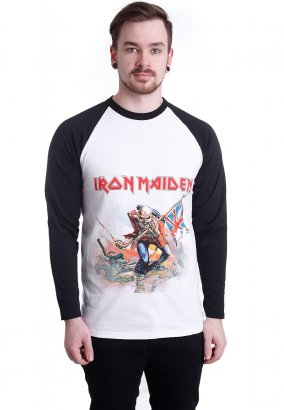 Iron Maiden - Trooper White/Black - Longsleeve