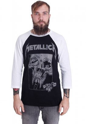Metallica - Damage Detail Inversed Black/White - Longsleeve
