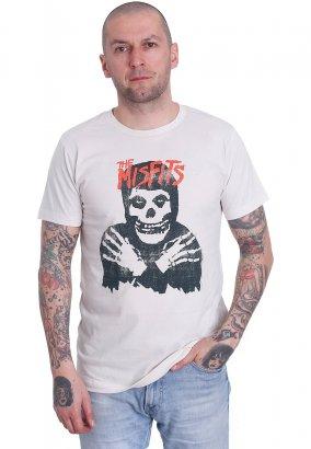Misfits - Classic Skull Distressed Vintage White - T-Shirt