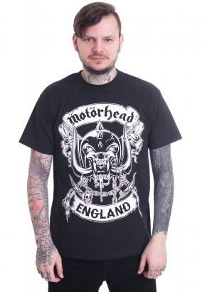 Motörhead - Crossed Swords England Crest - T-shirt