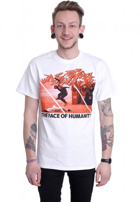 Nasty - Face Of Humanity White - T-Shirt