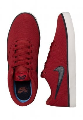 Nike - SB Check Solarsoft Canvas Team Crimson/Obsidian/White - Scarpe