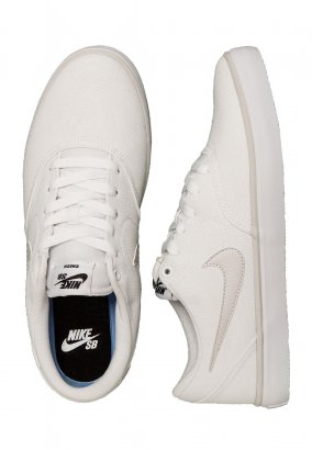 Nike - SB Check Solarsoft Canvas White/Vast Grey/White - Schuhe