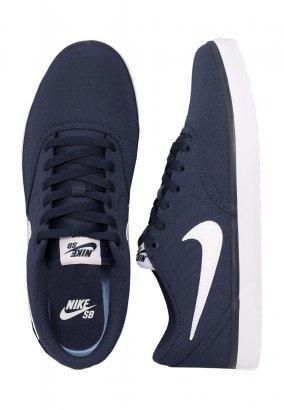Nike - SB Check Solarsoft Canvas Midnight Navy/White - Shoes