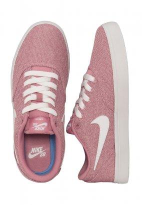 Nike - SB Check Solarsoft Canvas Premium Elemental Pink/White/Black - Girl Shoes