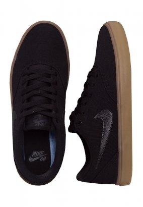 Nike - SB Check Solarsoft Canvas Skateboarding Black/Black/Gum/Light Brown - Schoenen