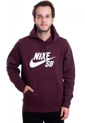 Nike SB - SB Icon Burgundy Crush/White - Hoodie