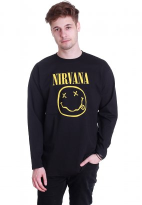 Nirvana - Smiley Logo - Longsleeve