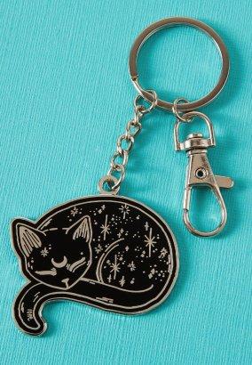 Punky Pins - Mystical Cat Black - Schlüsselanhänger