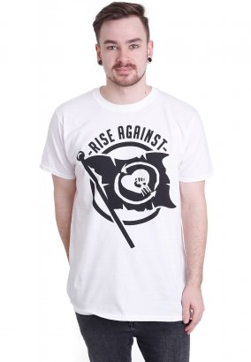 Rise Against - Flag White - T-Shirt