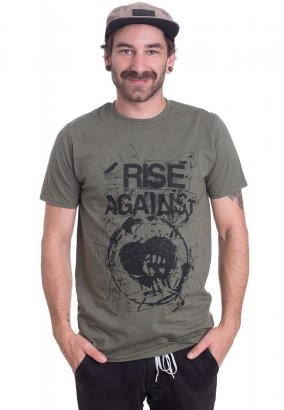 Rise Against - Tape Military Green - Tričko