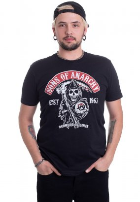 Sons Of Anarchy - Redwood Original Red Patch - T-Shirt
