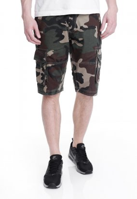 Urban Classics - Fitted Cargo Wood Camo - Szoty