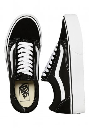 Vans - Old Skool Platform Black/White - Női cipők