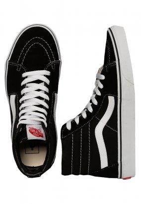 Vans - Sk8-Hi Black/Black/White - Schuhe