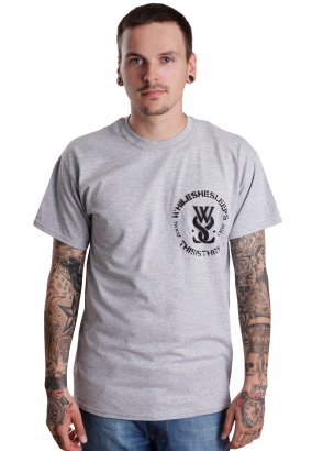 While She Sleeps - Spray Logo Sportsgrey - T-Shirt