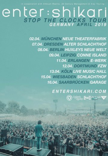Enter Shikari - 16.04.2019 Saarbrücken - Ticket