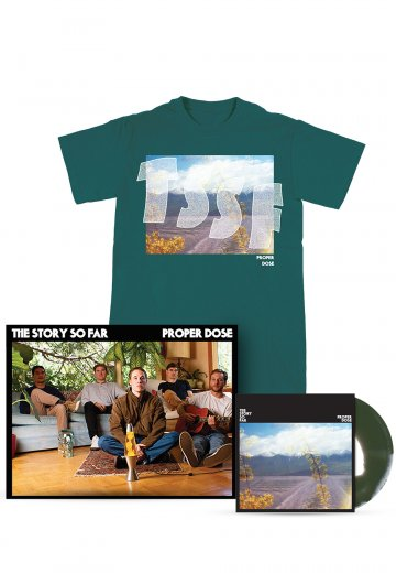 The Story So Far - Proper Dose Cover Green Colored Vinyl Special Pack - T-Shirt