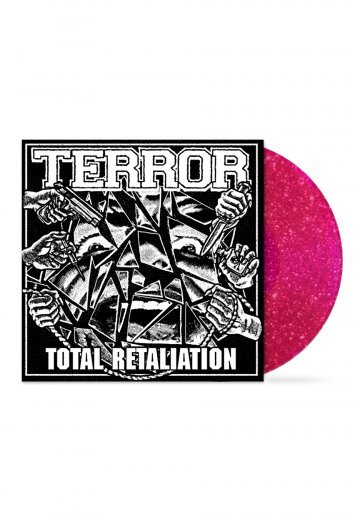 Terror - Total Retaliation Pink Sparkle - Colored LP