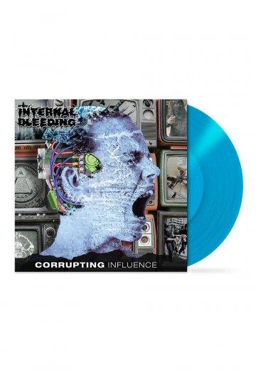 Internal Bleeding - Corrupting Influence Cyan Blue - Colored LP