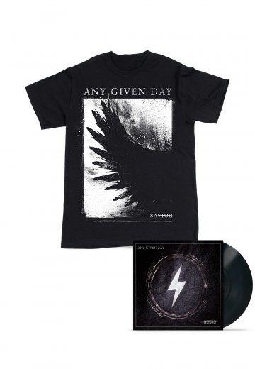 Any Given Day - Overpower Savior Vinyl Special Pack - T-Shirt