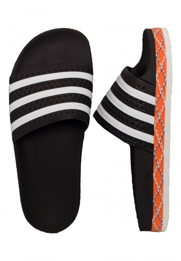 Adidas - Adilette New Bold Core Black/White/Core Black - Girl Sandals