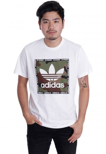 quality design e4637 effc9 Adidas - Camo Box White - T-Shirt - Streetwear Shop - Impericon.com  Worldwide