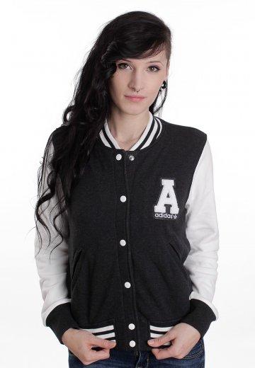 4d8d97113e19fc Adidas - College Dark Melange/Running White - Girl College Jacket ...