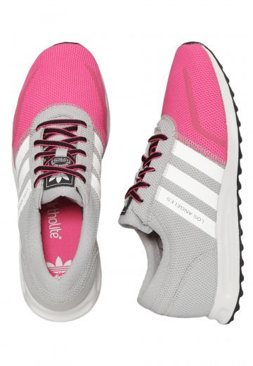 6ee7f77205a Adidas - Los Angeles K Light Solid Grey Ftwr White Shock Pink - Girl Shoes  - Impericon.com US