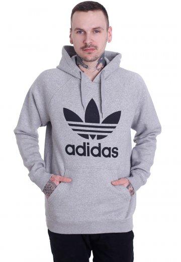 Adidas Originals Trefoil Medium Grey HeatherMedium Grey Heather Hoodie