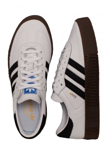 Adidas - Sambarose W Ftwr White/Core Black/Gum 5 - Girl Shoes