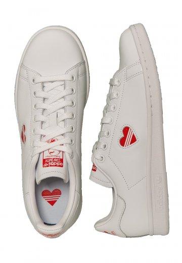 Adidas Stan Smith W Ftwr WhiteAct RedFtwr White Girl Shoes