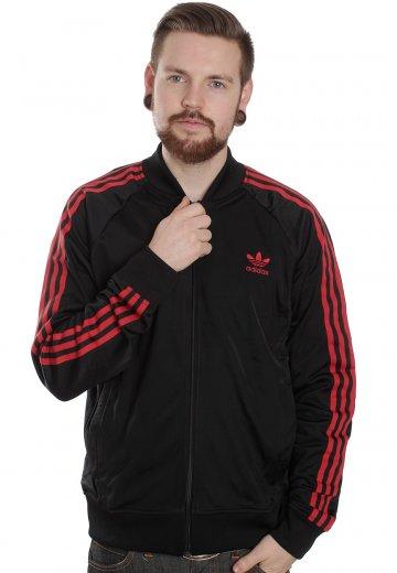 best loved e507c e4395 Adidas - Superstar TT Black/Light Scarlet - Track Jacket
