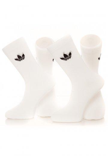Adidas - Thin Trefoil White - Socks