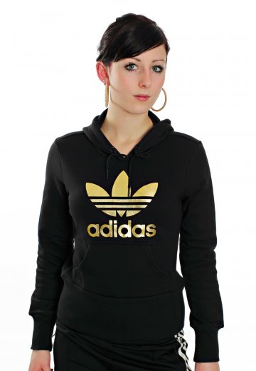 343ae869e Adidas - Trefoil Black/Metallic Gold - Hoodie - Streetwear Shop ...