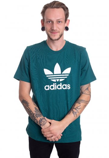 Adidas Trefoil T Shirt Noble GreenWhite T Shirt