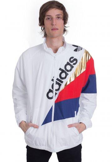 Adidas Tribe Track White Top Windbreaker nkw0OPX8