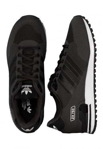 best loved ee7c7 2cf9d Adidas - ZX 750 WV Shadow Black/Core Black/Ftwr White - Shoes