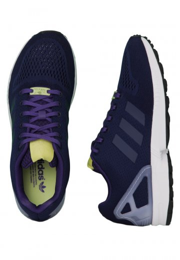 separation shoes 416cd 7405f Adidas - ZX Flux Dark Blue Dark Blue Collegiate Purple - Shoes -  Impericon.com Worldwide