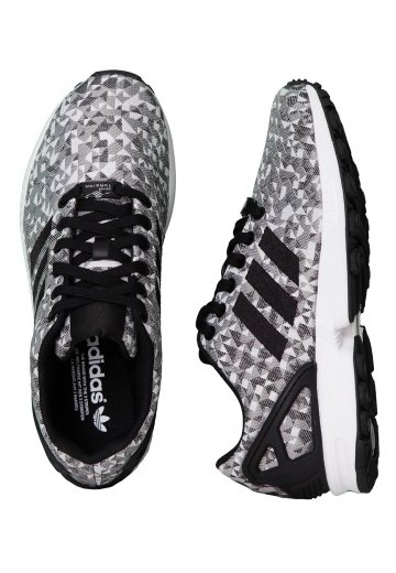 hot sales d4081 85651 Adidas - ZX Flux Weave Ftwr White/Core Black/Charcoal Solid Grey - Girl  Shoes