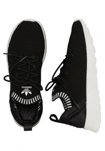 22d082291 Adidas - ZX Flux ADV Virtue PK W Core Black Core White Metallic Silver SLD  - Girl Shoes - Impericon.com US