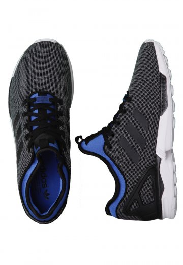 new product cf9d2 990e4 Adidas - ZX Flux NPS Black/Black/Pool Blue - Shoes