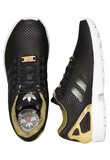 1ea8aeab5e6be9 Adidas - ZX Flux W Legend Ink Legend Ink Gold Met - Girl Shoes -  Impericon.com UK