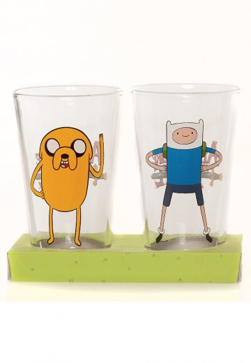 Adventure Time - Fin And Jake Large Twin Pack - Glass