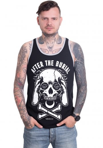 After The Burial - Skull Hand Black/White - Tank