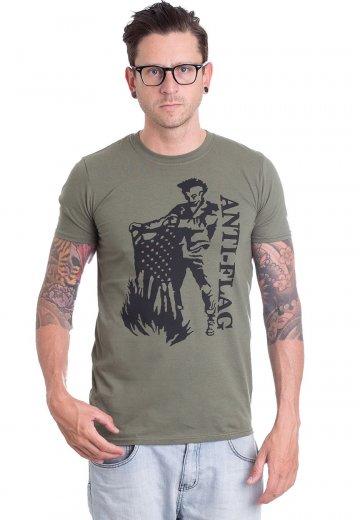 Anti Flag - Flag Burner Military Green - T-Shirt