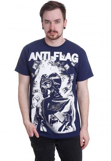 Anti Flag - Gasmask Navy - T-Shirt